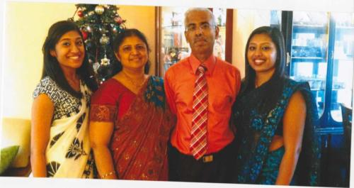 Abraham Azhanthra and family