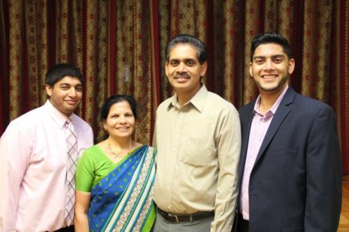 Mr. Wilson Mathai and family
