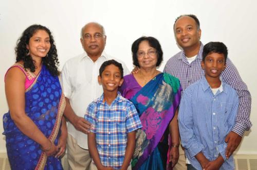 T.V. Kurian, and Thomas Kurian Family