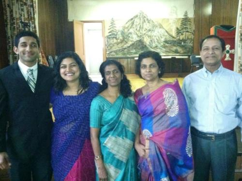 Thambi Peter and family.