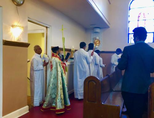 Rev.Fr. K.K. John Celebrated Holy Qurbana on Palm Sunday, 2019